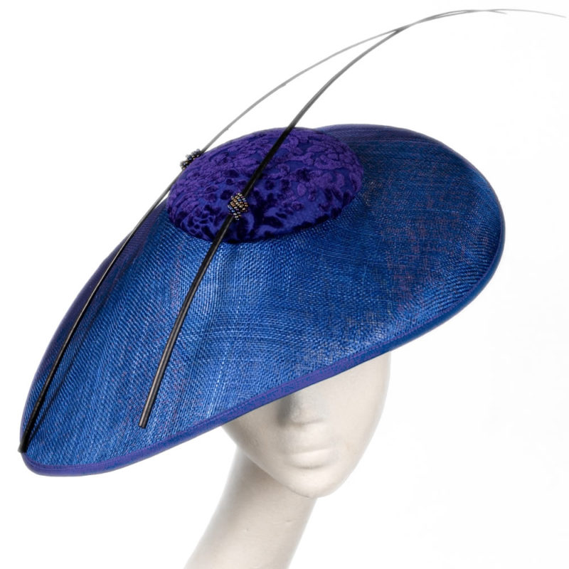 Victoria side tilt oval hat by wendy louise design