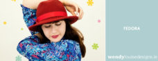 red fedora hat by wendy louise designs
