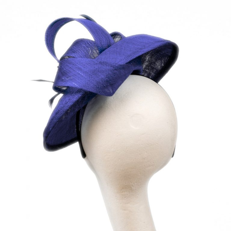 Emma Saucer Hat Electric Blue | Wendy Louise Designs