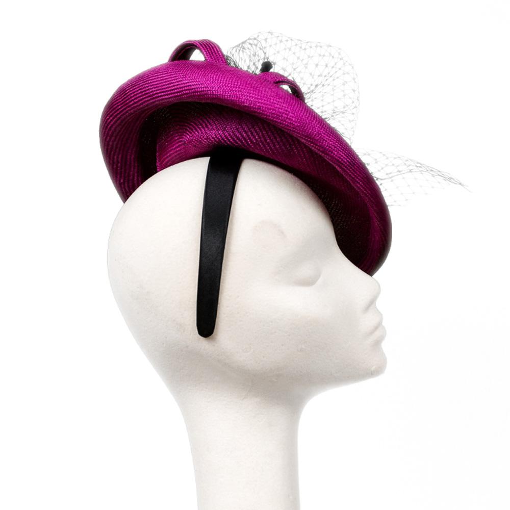 Emma Saucer Hat Fuchsia Pink | Wendy Louise Designs