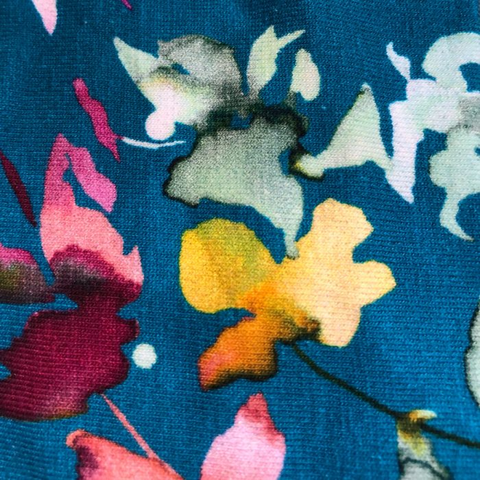 Aqua Floral Pattern | Wendy Louise Designs