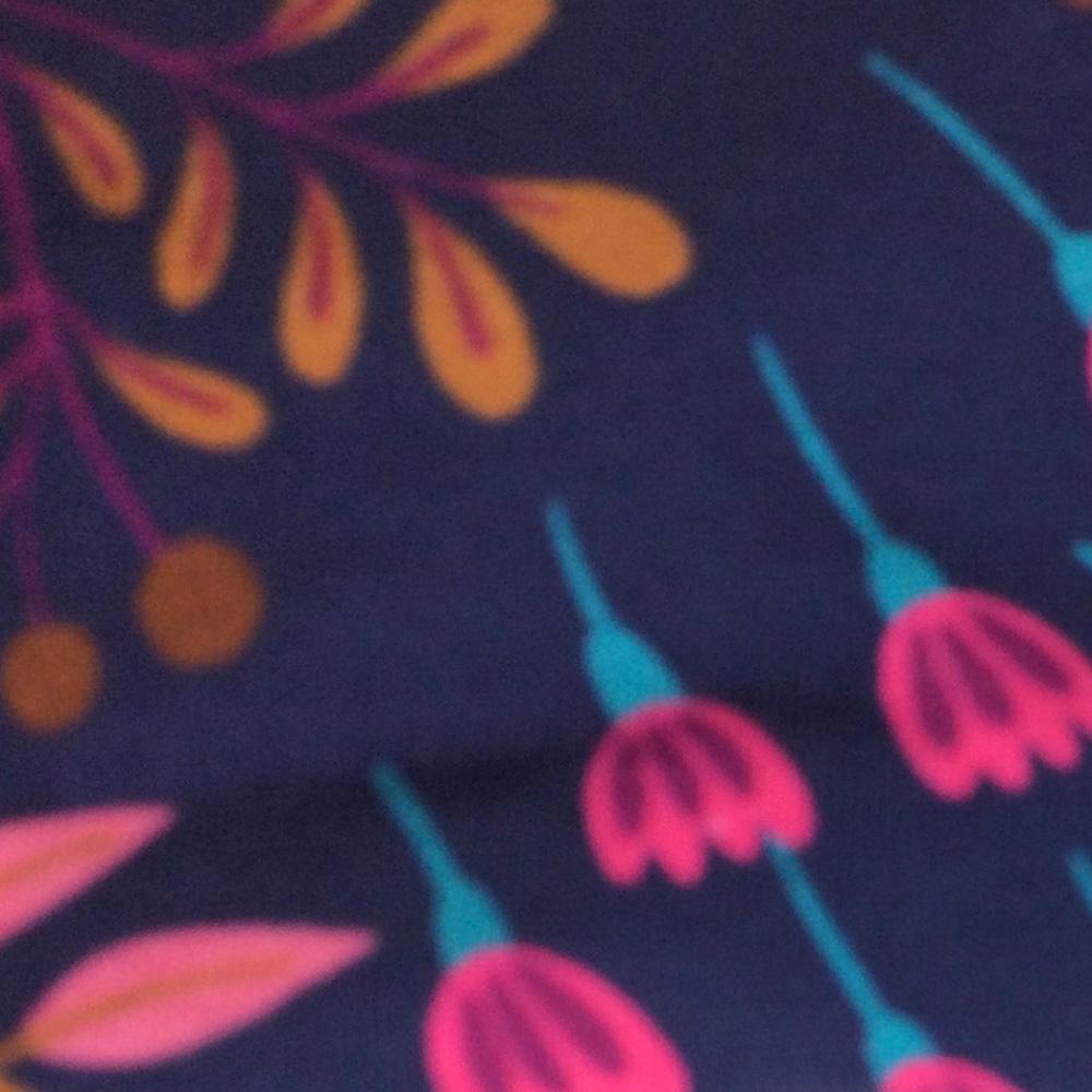 Floral Navy Pattern | Wendy Louise Designs