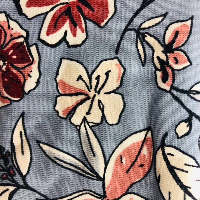 Floral Ice Blue Peach Pattern | Wendy Louise Designs