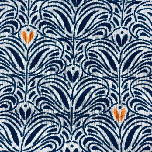 Royal Orange Fleur Pattern | Wendy Louise Designs