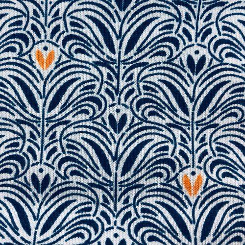 Royal Orange Fleur Pattern   Wendy Louise Designs