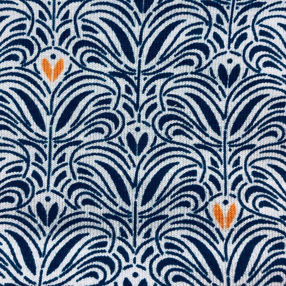 Royal Orange Fleur Pattern | Wendy Louise Designs