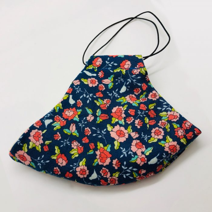Multi Peach Navy Folded   Wendy Louise Designs