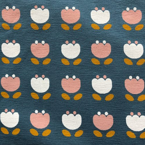 Snowdrops Teal - Pattern | Wendy Louise Designs