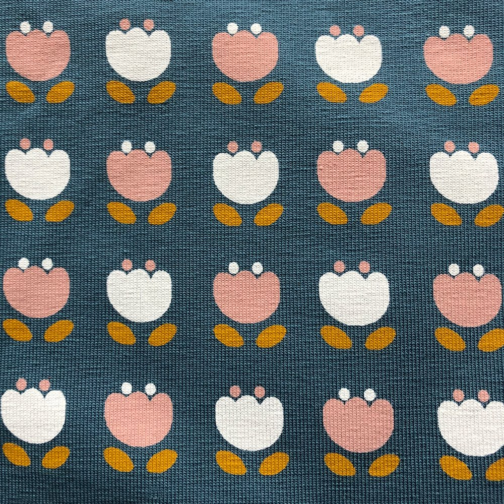 Snowdrops Teal - Pattern   Wendy Louise Designs